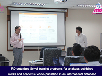 IRD organizes Scival training programs for analyzes published works and academic works published in an international database