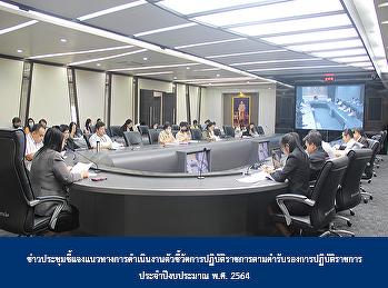 ข่าวประชุมชี้แจงแนวทางการดำเนินงานตัวชี้วัดการปฏิบัติราชการตามคำรับรองการปฏิบัติราชการ ประจำปีงบประมาณ พ.ศ. 2564